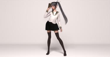 Daz Studio 日本人フィギュアに定番の制服