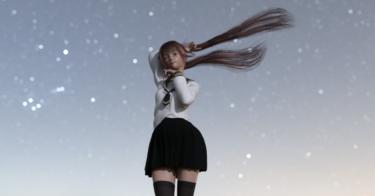 Daz Studio 日本人フィギュアに合うツインテール
