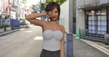 Daz Studio バストまわりの不自然な服の形状を修正(応用編)